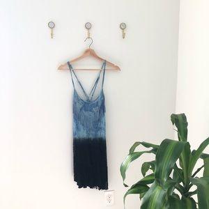 FREE PEOPLE blue black ombré party dress 4